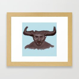 Sweet Bull Framed Art Print