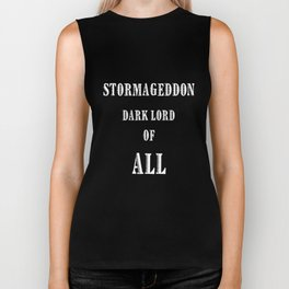 Doctor Who Stormageddon Dark Lord of All Biker Tank