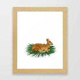 Fawn Illustration Framed Art Print
