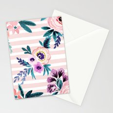 Victoria Blushing Stripe Stationery Cards
