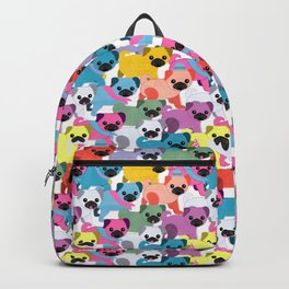 Colored Pugs Pattern - no1 Backpack