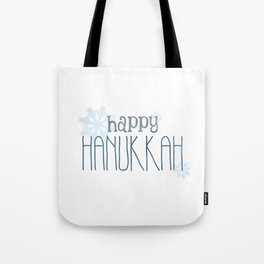 Happy Hanukkah | Snowflakes Tote Bag