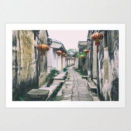 chinese ancient village Art Print