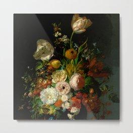 "Rachel Ruysch ""Still Life with Flowers in a Glass Vase"" Metal Print"