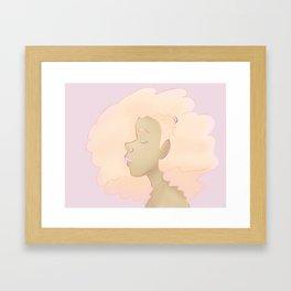 Cotton Candy Hair Framed Art Print