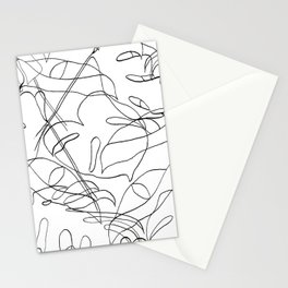 Botanical Black Stationery Cards