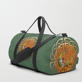 Peacock Celtic Deco Duffle Bag