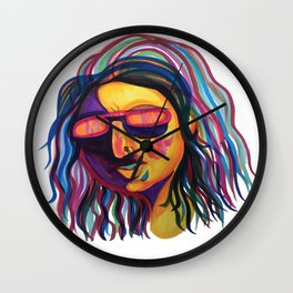 PSYCHEDELIC BABE Wall Clock