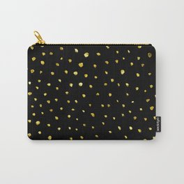 Brushed Gold Dots Carry-All Pouch