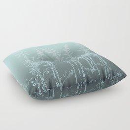 WILDFLOWERS - GREEN OMBRE Floor Pillow