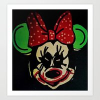 minnie mouse Art Prints featuring Minnie Mouse by Jide