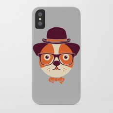 Hipster Dog Slim Case iPhone X