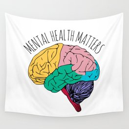 MENTAL HEALTH MATTERS Wall Tapestry
