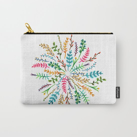 Radial Foliage Carry-All Pouch