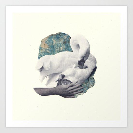 Hand Swan Art Print