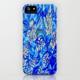 Breath Taking Light Blue Abstract Leaf iPhone Case