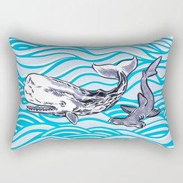 Underwater Best Friends Rectangular Pillow