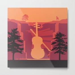 Music Mountains No. 4 Metal Print