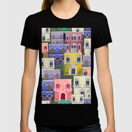 Puerto Rico architecture pattern in spring T-shirt