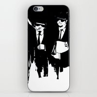 blues brothers iPhone & iPod Skins featuring blues brothers by serenita