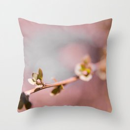 Buds on a Tree with Bokeh Throw Pillow