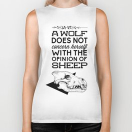 A Wolf Does Not Concern... Biker Tank
