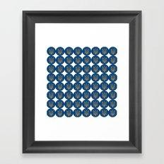 Ukrainian trizub Framed Art Print
