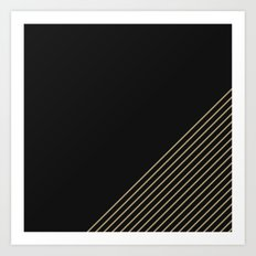 Tan & Black Stripes  Art Print