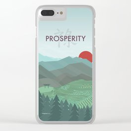 Prosperity Day Clear iPhone Case