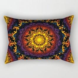 'Bohemian Summer' Multi-Coloured Mandala Rectangular Pillow