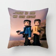 ...Where no man has gone bofore Throw Pillow