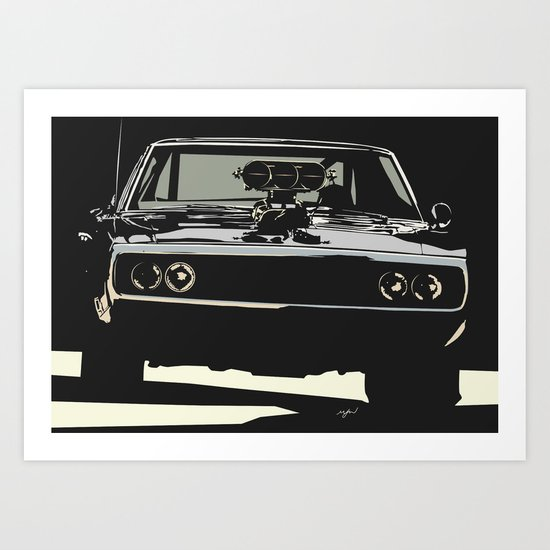 FAST AND THE FUROUS DODGE CHARGER Art Print