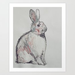 A Hare In Art Print