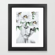 WOMAN WITH FLOWERS 10a Framed Art Print