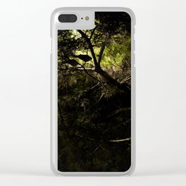 Tree at night Clear iPhone Case