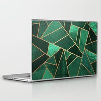 copper Laptop & iPad Skins featuring Emerald and Copper by Elisabeth Fredriksson
