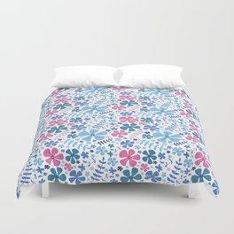 My Little Garden pink &blue Duvet Cover