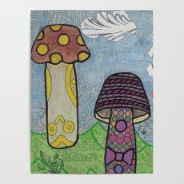 Trippy Mushrooms Poster