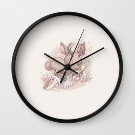 Jackalope Bunny Wall Clock