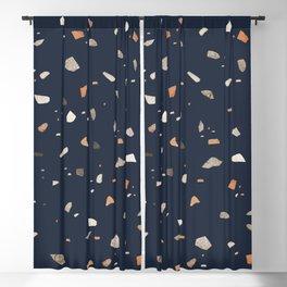 Midnight Navy Terrazzo #1 #decor #art #society6 Blackout Curtain