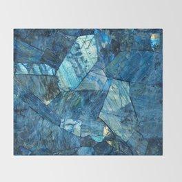 Labradorite Blue Throw Blanket