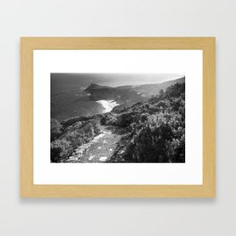 Path along cliffs of Cape Point, South Africa Framed Art Print