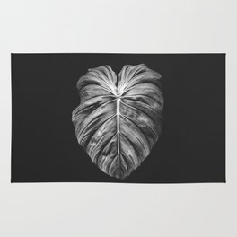 Monstera Deliciosa Black and White Rug