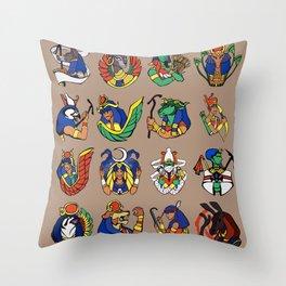 Egyptian Gods and Goddesses Throw Pillow