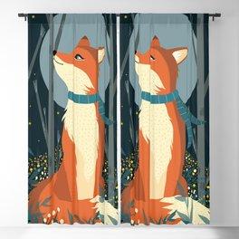 Fox Print, Woodlands Nursery Decor, Fox wall art, woodland print, Animals Print, forest print Blackout Curtain
