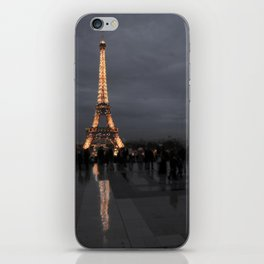 Eiffel Tower With Night Lights iPhone Skin