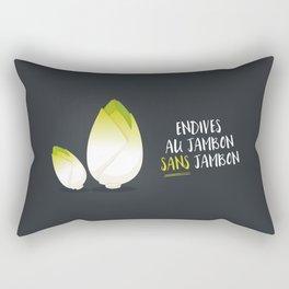 Endive au jambon sans jambon Rectangular Pillow
