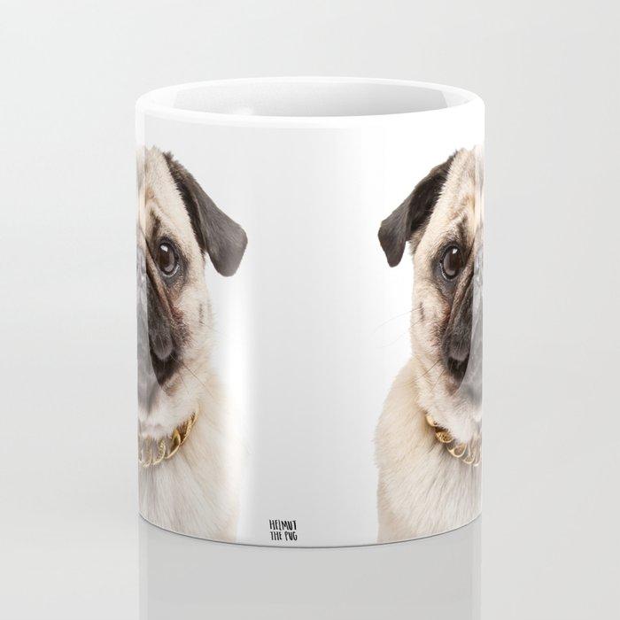 Helmut the Pug - Gold Chain Coffee Mug