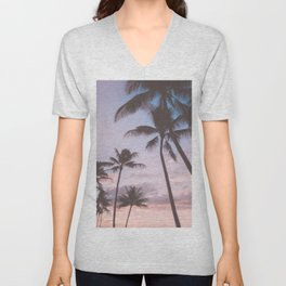 Pastel Palm Trees Unisex V-Neck