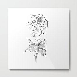 The rose kiss. Metal Print